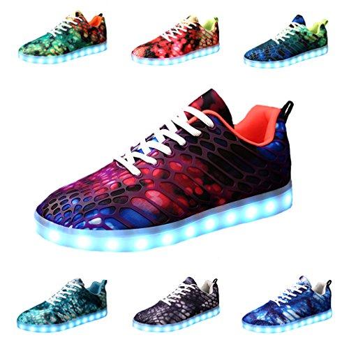HeyYoo Boys Girls LED Shoes Luminous Shoes Flashing Sneakers LED Light Up Shoes For Women Men
