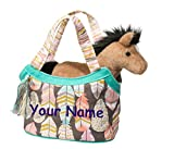Personalized Douglas Pink and Gold Feathers and Horse - Best Reviews Guide