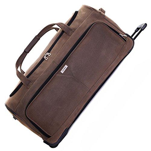 Karabar Anderson XL 87cm Rollentasche - 10 Jahre Garantie, Braun