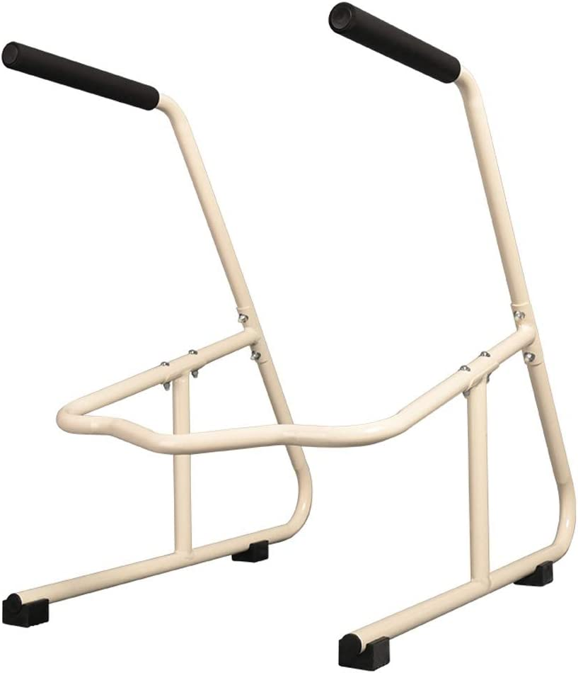 Axd Toilet Surround Rail Safety Frame,Free Standing Rails mit Safety Handles für Elderly Handicapped Disabled, nicht Floor Fixing Feet