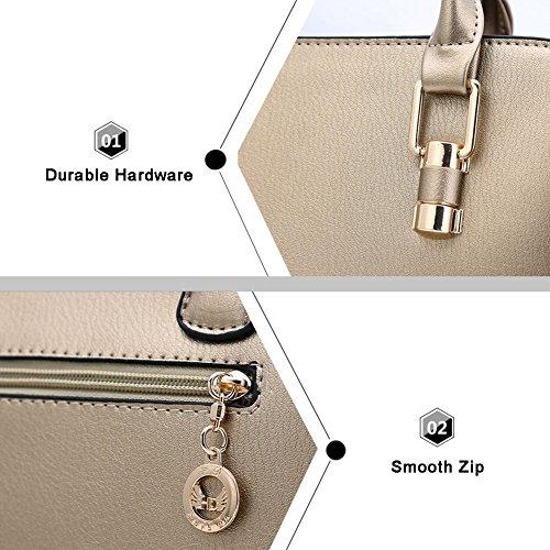 Sacchetti eleganti in cuoio Vegan per Yoome Borse eleganti per le borse grandi borse da cartone per le donne - Borgogna