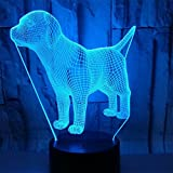 BEIGU 3D Illusion Night Lamp Animal Shape Visual Optical Lamps with Base 7 Colors Changing Home Decoration For Boy Girls Child Birthday Gift