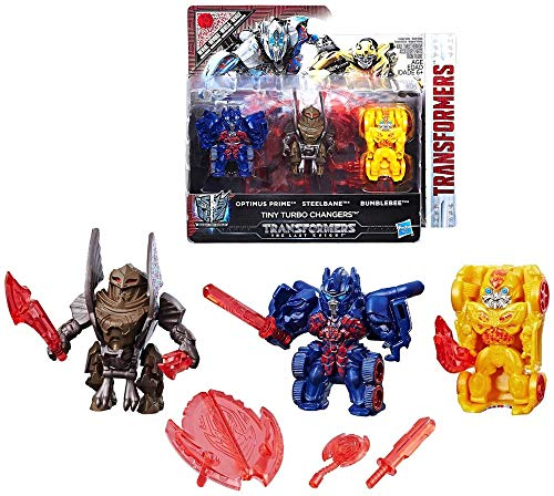 Turbo Changers Reveal The Shield Tiny 3-Pack Transformers The Last Knight 1.5