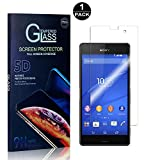 Sony Xperia Z3 Compact Screen Protector, Bear Village® Tempered Glass Screen Protector [Lifetime Warranty], HD Screen Protector Glass for Sony Xperia Z3 Compact - 1 PACK
