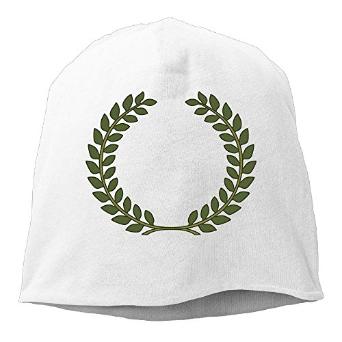 Go Ahead! boy Textured Laurel Wreath Beanies Caps Skull Hats Unisex Soft Cotton Warm Hedging Cap,One Size