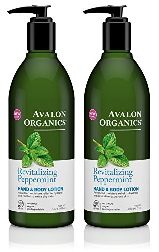 Avalon Organics Peppermint Hand And Body Lotion, 12-Ounce Bottle (Pack of - Lotion Hand Organics Body