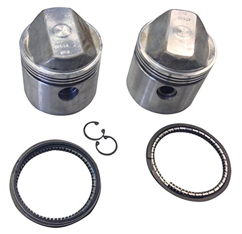 TRW Forged Piston Set with Rings for Harley-Davidson Sportster 1000cc (Trw Pistons)