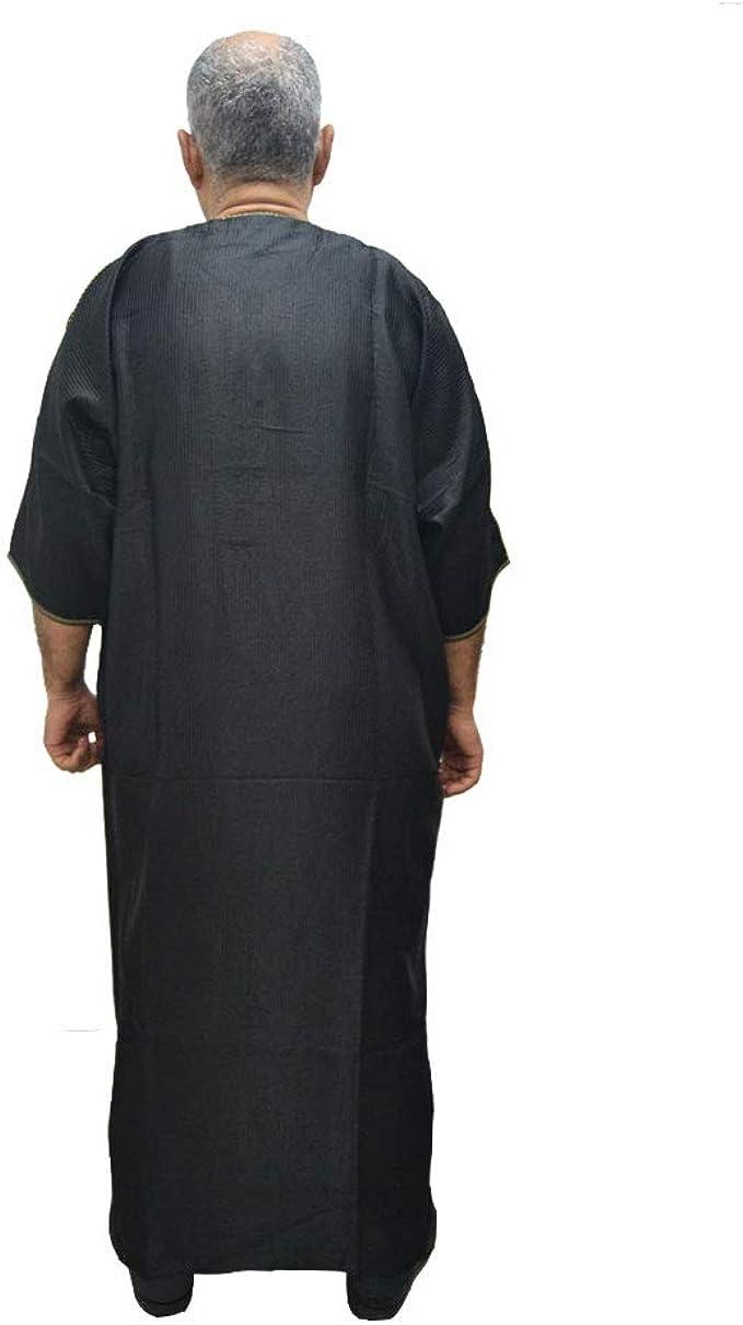 Chilaba djellaba caftán árabe Marroquí algodón y satén Raso Muy ...