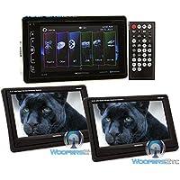 pkg (2) Soundstream VHR 65T 6.5 LCD Touchscreen Headrest Monitors + Soundstream VR-65B 6.2 In-Dash 2-DIN LCD Touchscreen DVD/MP3/MP4/DivX Receiver with Bluetooth