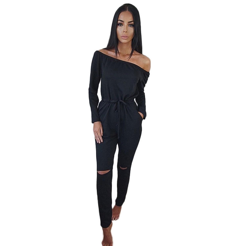 e27e146a11e6 Amazon.com  SunWard(TM) Women Clubwear Playsuit Party Jumpsuit Long  Trousers  Clothing