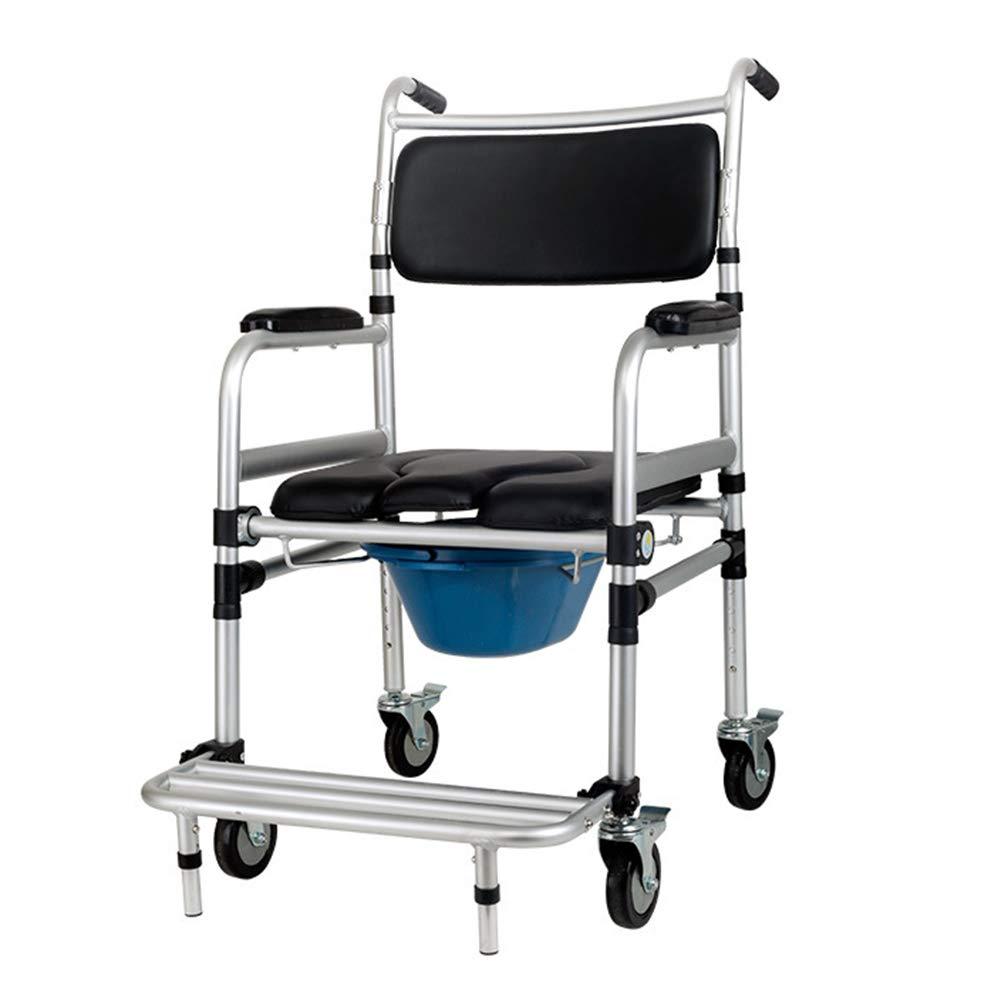 2019年新作入荷 車輪付きシャワートイレチェア、ラウンドボウルとフットレスト付きの車椅子、携帯用バスルームチェア B07L6K17H5、モバイル用品 B07L6K17H5, ダイワサイクル オンラインストア:c7b345aa --- a0267596.xsph.ru