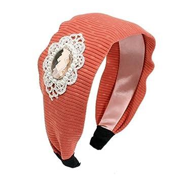 eDealMax señoras Rhinestone Brillante decorado Pelo de la Venda del ARO, salmón rosa, 0