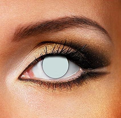 997911e3fa Lentes De Contacto De Color Blanco Blind Zombie Halloween (90 Días ...