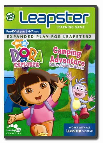 LeapFrog Leapster Learning Game Dora's Camping Adventure Dora Adventure Games