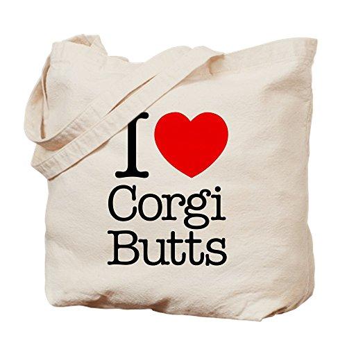 CafePress–I Heart Corgi colillas–Gamuza de bolsa de lona bolsa, bolsa de la compra
