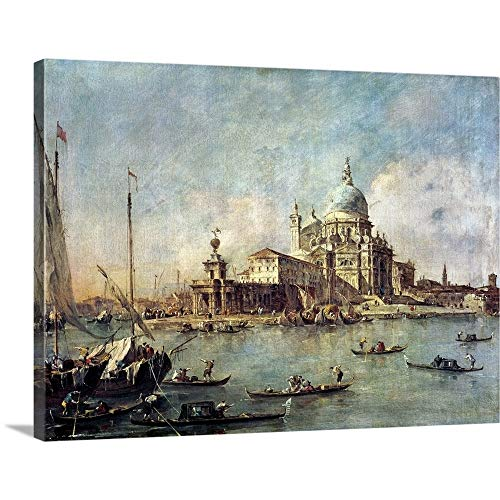 (GREATBIGCANVAS Gallery-Wrapped Canvas Entitled Venice, The Punta Della Dogana with Santa Maria Della Salute, c.1770 by Francesco (1712-1793) Guardi 40
