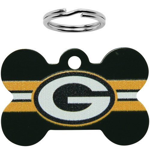 NFL Green Bay Packers Bone Engravable Pet ID Tag, My Pet Supplies