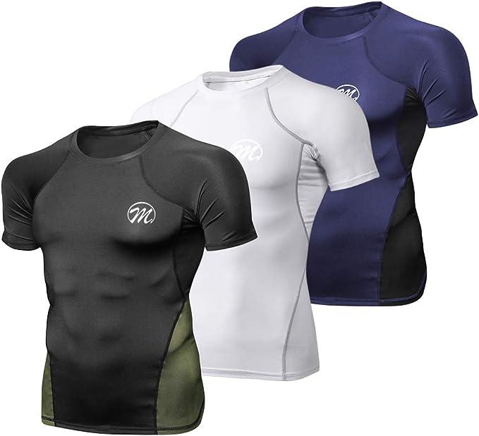 Men Sportswear T-Shirt Compression Athletic Training Running Tops New Fashion