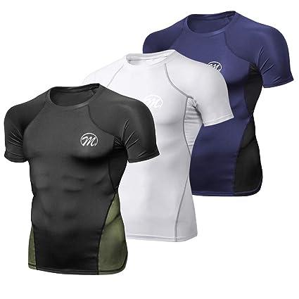 MEETWEE Deportes Camisetas Hombre,T-Shirt Manga Corta Camiseta Ropa Deportiva para Running Formaci/ón Gym Ciclismo