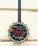 Agape Gifts AG Designs Christmas Decor - Decorative Wreath Door Hanger - Merry Bright 419/08
