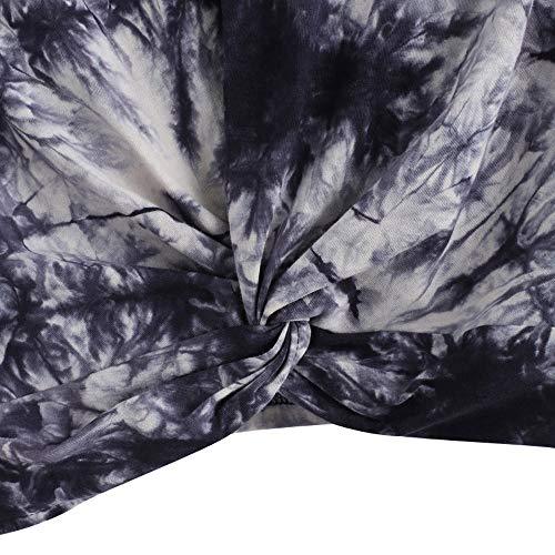 de Soie Manches Pull Twist Mousseline Chic Chemisier Shirt Chemise Sweat en Longues Tops Torsades Femme Marine tnPwxT7q