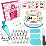 Cakebe 44-Piece Cake Decorating Supplies Kit with Cake Turntable,...