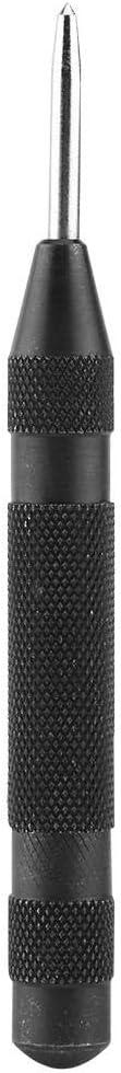 Akozon Punzón Central Automático Acero de Alta Velocidad,Perforador de Agujero Central Marcador para Metal Madera o Plástico 130mm