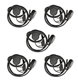 Retevis 2 Pin D Shape Headset Walkie Talkie Earpiece for Baofeng UV-5R 888S Retevis H-777 RT21 RT22 2 Way Radios (5 pack)