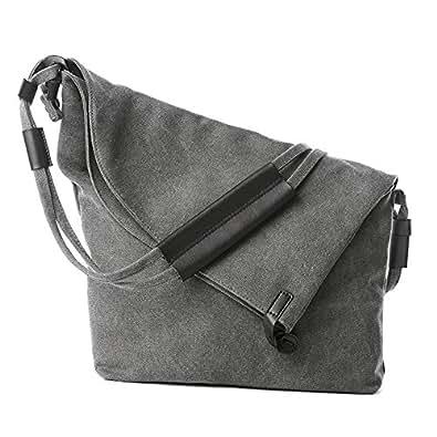 ef57618420f1 Amazon.com  ZIIPOR Oversized Crossbody Bag Messenger Bag Casual ...
