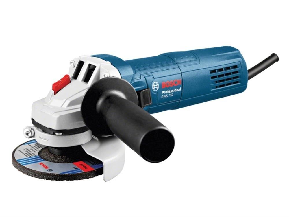 Bosch 0601394270 Professional Angle Grinder, 750 W, 240 V, Blue, 115 mm/4.1/2-Inch
