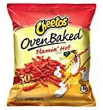 oven baked hot - Baked Cheetos Oven Cheese Snacks, Flamin Hot, 0.875 Ounce (Pack of 104)