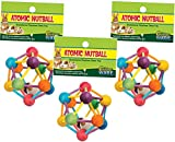 (3 Pack) Ware Manufacturing Wood Atomic Nut Ball Pet Toys for Small Pets - Large