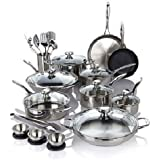 Amazon Com Wolfgang Puck Stainless Steel 18 Pc Cookware