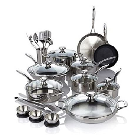 Wolfgang Puck Bistro Elite 27-piece Stainless Steel Cookware Set