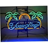 XINHANG 17 X 14 Inches Real Glass Neon Light Sign for Yuengling Lager Eagle Design Home Beer Bar Pub Recreation Room Game Room Windows Garage Wall Sign