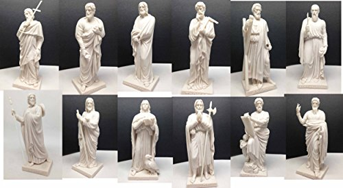 COPENHAGEN MUSEUM THORVALDSEN TWELVE APOSTLES SCULPTURE SET JESUS CHRIST DISCIPLES RESIN -