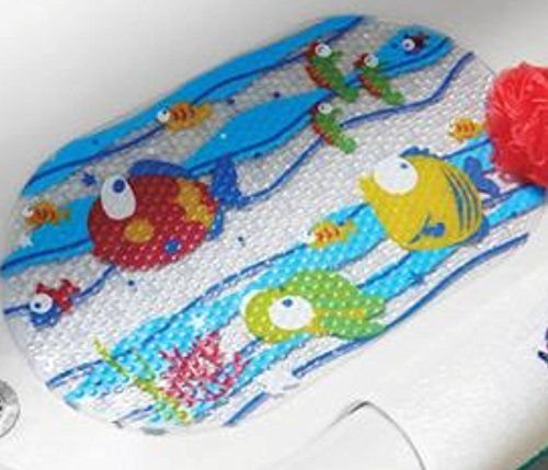 Bath mat kids fish mainstays fish bathtub mat with for Fish bath rug