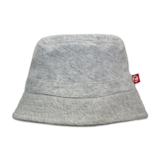 Zutano Baby & Toddler Bucket Sun Hat, UPF 30+ Protection, 6M, Heather Gray