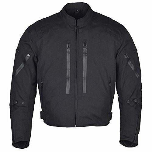 Men Motorcycle Waterproof Textile Race Jacket CE Protection Black MBJ057 (XL)