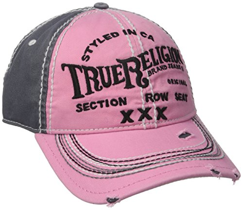 True Religion Women's Triple X Baseball Cap, True Pink, One Size (True Religion Boys Jeans)