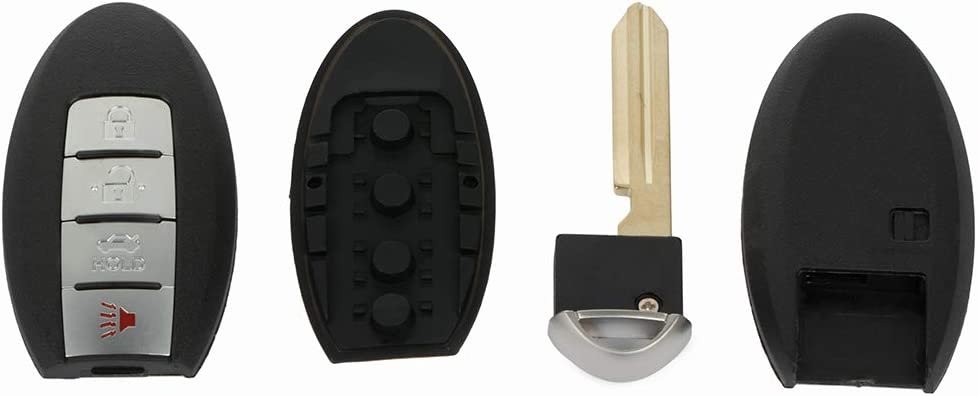 OCPTY 1X Uncut Keyless Entry Remote Control Key Fob Transmitter Replacement fit for 07-08 Nissan Maxima ADP12514301S