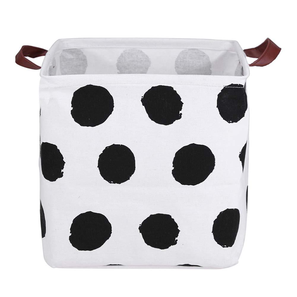 33 x 33 x 30 cm Impermeable Cesta de lavander/ía Plegable cestas organizadoras con Asas de Piel Rectangular para Guardar Juguetes de Tela de Lona Prosperveil