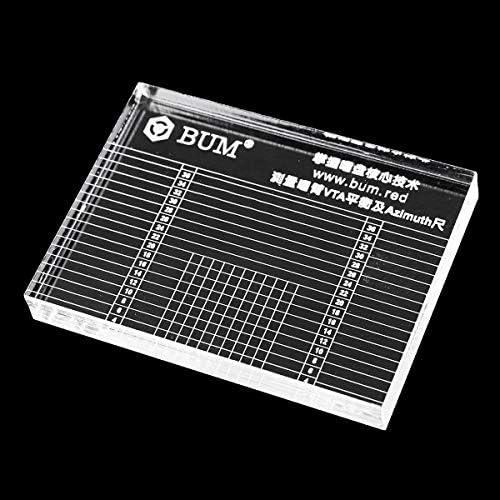 Queenwind 10mm レコードプレーヤーはフォノ Tonearm VTA/カートリッジ方位ルーラーのアライメントを測定