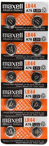 Maxell LR44 Batteries 10 - Lr44 Button Battery