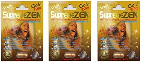Supreme Zen Gold 3500mg Male Sexual Performance Enhancement 100% Authentic (3)