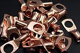 4 Gauge Copper 1/2 Ring 25 PK Crimp Battery Lug