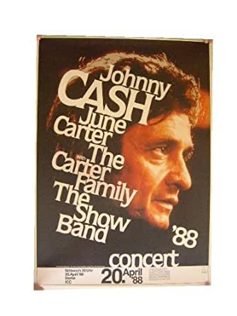 johnny cash poster concert berlin profile 1988 at amazon 39 s entertainment collectibles store. Black Bedroom Furniture Sets. Home Design Ideas