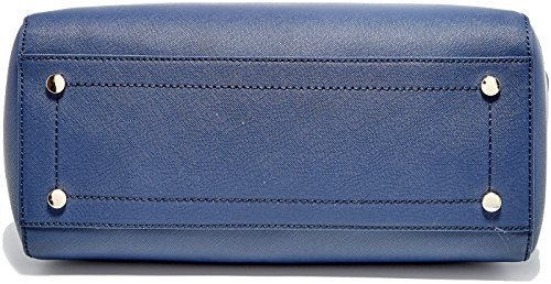 X Tote Borsa Blu Trussardi Mano Ischia Navy blue H L w A 35x40x16 Cm Jeans Donna wq4vvB