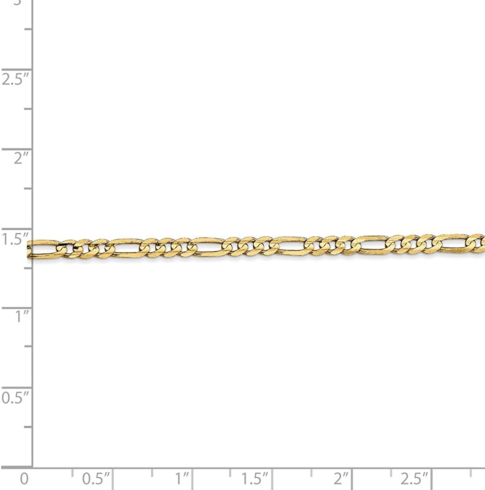 Jewels By Lux 14K Yellow Gold 3mm Concave Open Figaro Chain