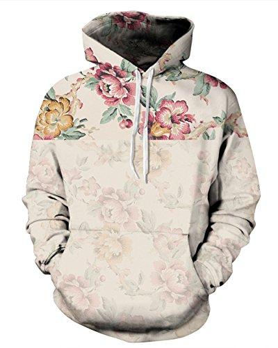 sankill Unisex Realistic 3D Digital Pullover Sweatshirt Hoodies Hooded Sweatshirt